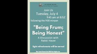 Being Frum - Being Honest
