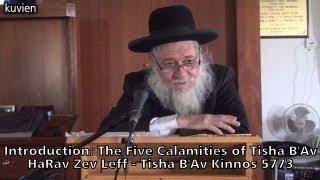 The Five Calamities of Tisha B'Av